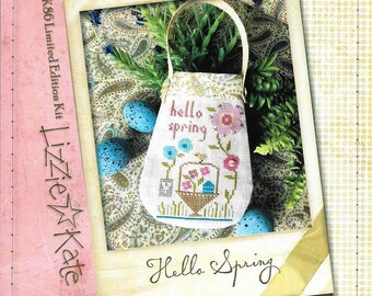 Lizzie Kate Hello Spring K86 - Limited Edition Counted Cross Stitch Pattern, Fabric and Embellishments