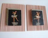 Pair of Ultra Modern Mid Century Ballerina/Ice Skater Pictures