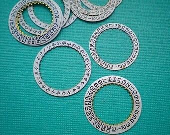 Vintage steampunk watch parts, 10 date wheels #6