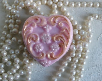Filigree Heart Handcrafted Soap