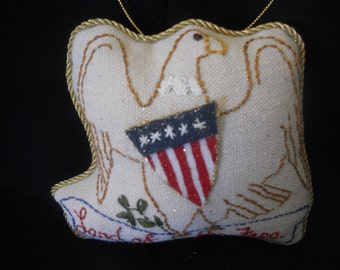Land of the free, American eagle Ornament, Americana ornament