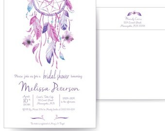 Dream Catcher Invite Etsy