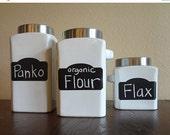 On SALE- Market Style Chalkboard Labels, Mason Jar Labels, Kitchen Labels, Chalkboard Stickers