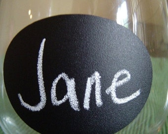 Get Organized SALE- Small Oval Chalk Labels (tm) - Vinyl Chalkboard Labels Self Adhesive - 2.5 inch - 12