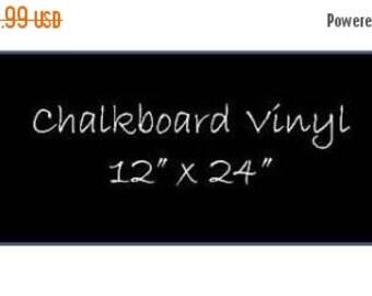 On SALE- Chalkboard Vinyl 12 x 24 Sheet - DIY Chalkboard Labels, Blackboard Vinyl, Self Adhesive Chalkboard, Peel and Stick Chalkboard Surfa