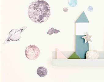 Mini Fabric Wall Decal - Night Sky (reusable) NO PVC