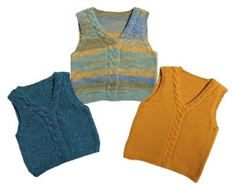 Nancy Lindberg Family of Vests Knitting Pattern- child thru adult sizing- Timeless!