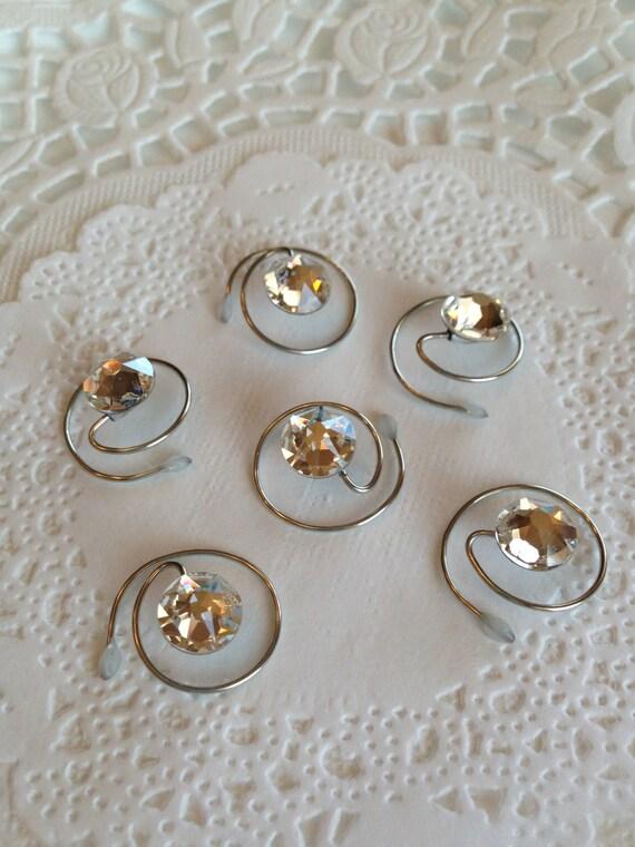 Swarovski Bridal Hair Swirls Crystal Clear Round Wedding Ballroom Dancing Prom