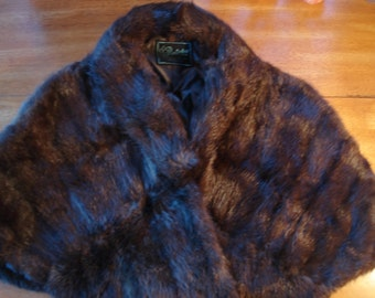 Vintage Mink Stole/ Wrap /Cape/ Canadian Mink / Penticton Furriers British Columbia/Impeccable Condition  Custom Made
