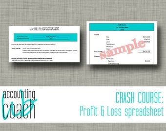 Accounting Crash Course: Instant download spreadsheet