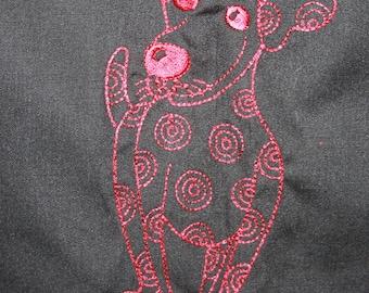 Lorilie Doggie Dearest design Reversible Apron