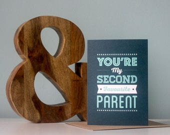 Second Favourite Parent Father's Day Card