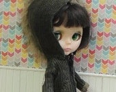 Army Hooded Jacket, Corduroy, blythe army, faux fur, mohawk, elbow patches