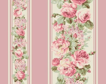 Prima RURU  bouquet by Quilt Gate Floral stripe 1 yard RU2260-12C