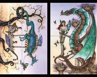 Dragons mini-print set 6x9 fantasy art