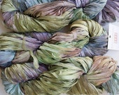 Frost, Hand dyed Ribbon Yarn - Deep Woods LT