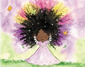 African American Girl  - PRINCESS TRULY   - Art Print