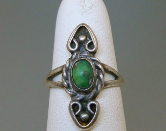 Sterling Green Turquoise Ring