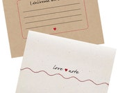 Love Note Sewn with Red Thread - 5 pack