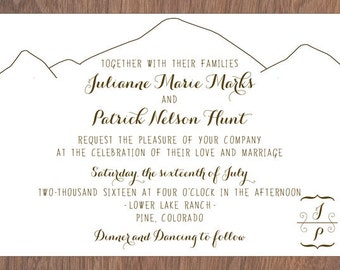 Mountain Colorado Wedding with Wood Veneer Backed Invitation Collection