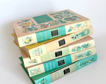 Vintage Through Golden Windows Children's Books Five Volumes Mid Century