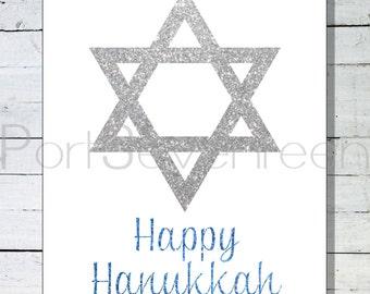 Happy Hanukkah Wall Art