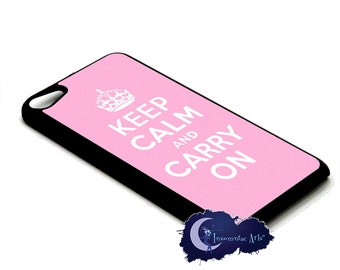 Keep Calm and Carry On, Pink - Case for iPod Touch