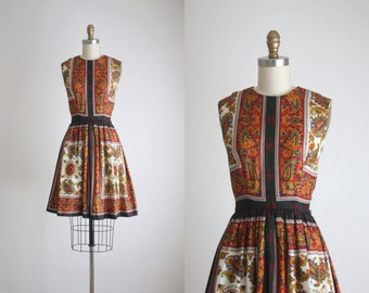 1960s bohemia mini dress