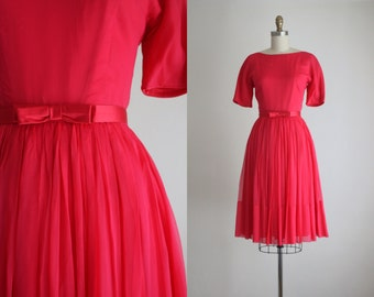 1960s chiffon party dress