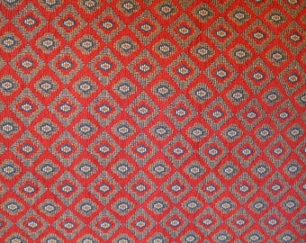 Americana Needlepoint look Red and Blue Heavy Upholstery Fabric