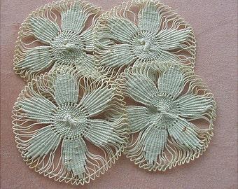 Vintage Spider Lace Needle Lace Appliques
