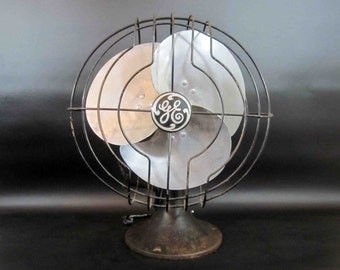 Vintage 1930's GE Table Fan / Needs Re-Wiring