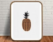 Copper Poster, Pineapple Prints, Pineapple Gifts, Large Wall Art, 20x30 Print, Marble Fruit, Fruit Poster, Copper Pineapple, Mens Decor