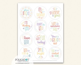 Shine Bright Lunchbox Notes - Set of 12 Sticker Notes
