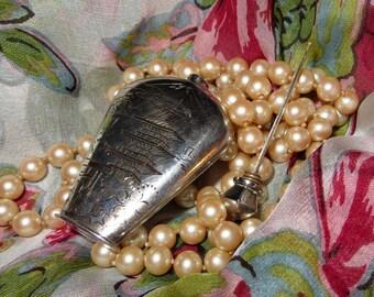 Japan Mount Fuji Perfume Bottle Vintage Sterling Fine Silver 950 Scent Oil Flask Snuff Vial Ash Urn Japanese Heirloom