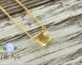 Gold or silver tiny star necklace, Gemstone star necklace, Stars are like friends necklace, November birthday necklace, Citrine jewelry