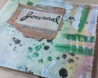 Painted Canvas Art Journal