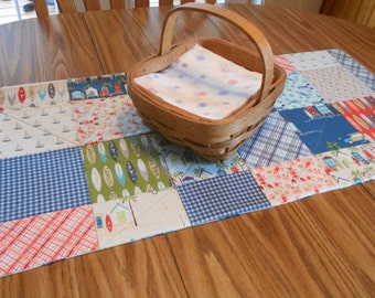 "Quilted Table Runner in ""Offshore"" by Riley Blake Designs"