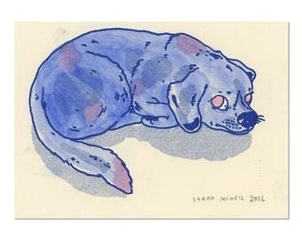 Hand painted Dog Print 10