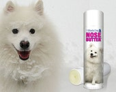 American Eskimo ORIGINAL NOSE BUTTER® Handcrafted Salve for Dry Dog Noses Choice: .15 oz, 3-.15 oz Tube or .50 oz Tube American Eskimo label