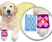 BOO BOO BUTTER™ All Natural Herbal Handcrafted Balm for Your Dog's Itchy Spots, Rashes and Discomforts 2 oz tin Bandaged Paw Label