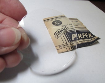 Lenses, Round Rimless, Titmus Perfex, 47 mm diameter, Optical Lens USA  RDT-1