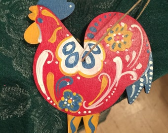 Swedish Rooster Ornament