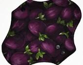 Light Hemp Core- Eggplant Reusable Cloth Pantyliner Pad- WindPro Fleece- 8.5 Inches