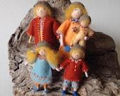 Wee Folk Acorn Doll Family, Dollhouse family