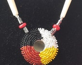 Native American Medicine Wheel Necklace & Earring Set