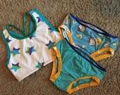 Girls Sports Bra and Undies Set Size 7/8 - Ready to Ship