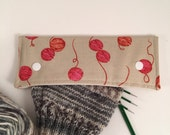 Sock Knitter's dpn Wallet Cotton and Steel Yarn