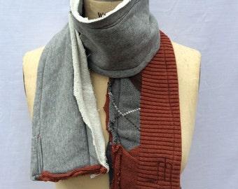 fleece scarf, winter scarf, warm scarf