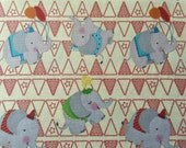Fabric by the Yard Fun Circus Elephant Print by David Textiles